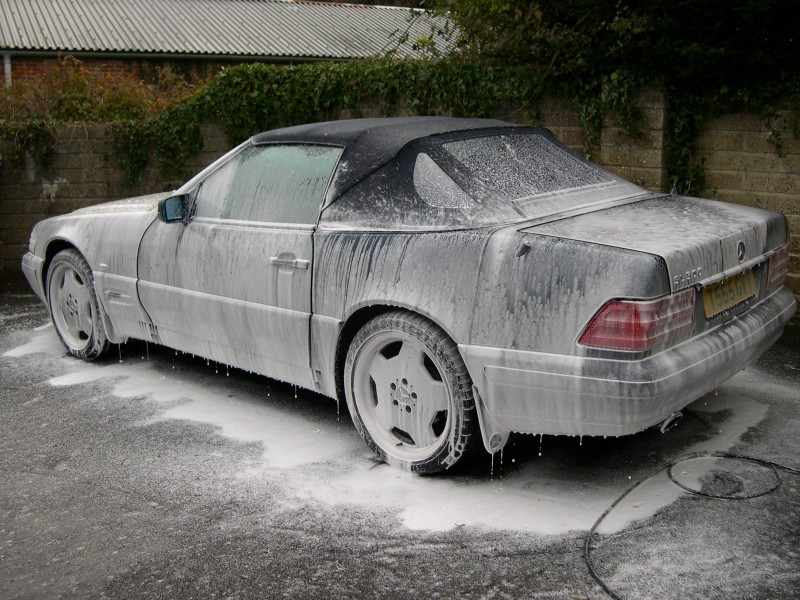 Mercedes Benz SL Valeting in Hampshire